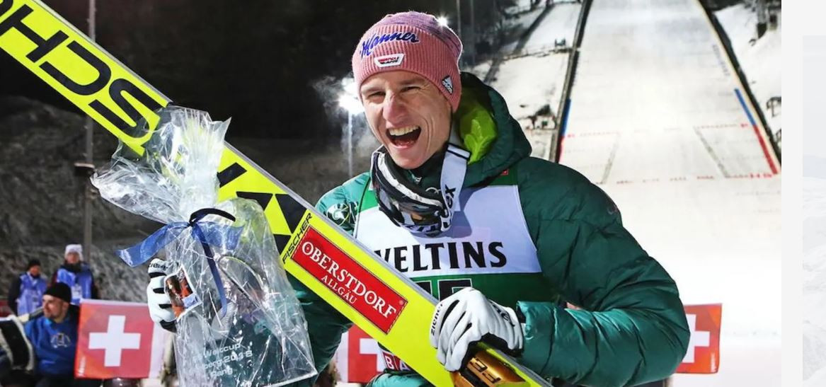 Germany's Karl Geger won in Switzerland today ©FIS