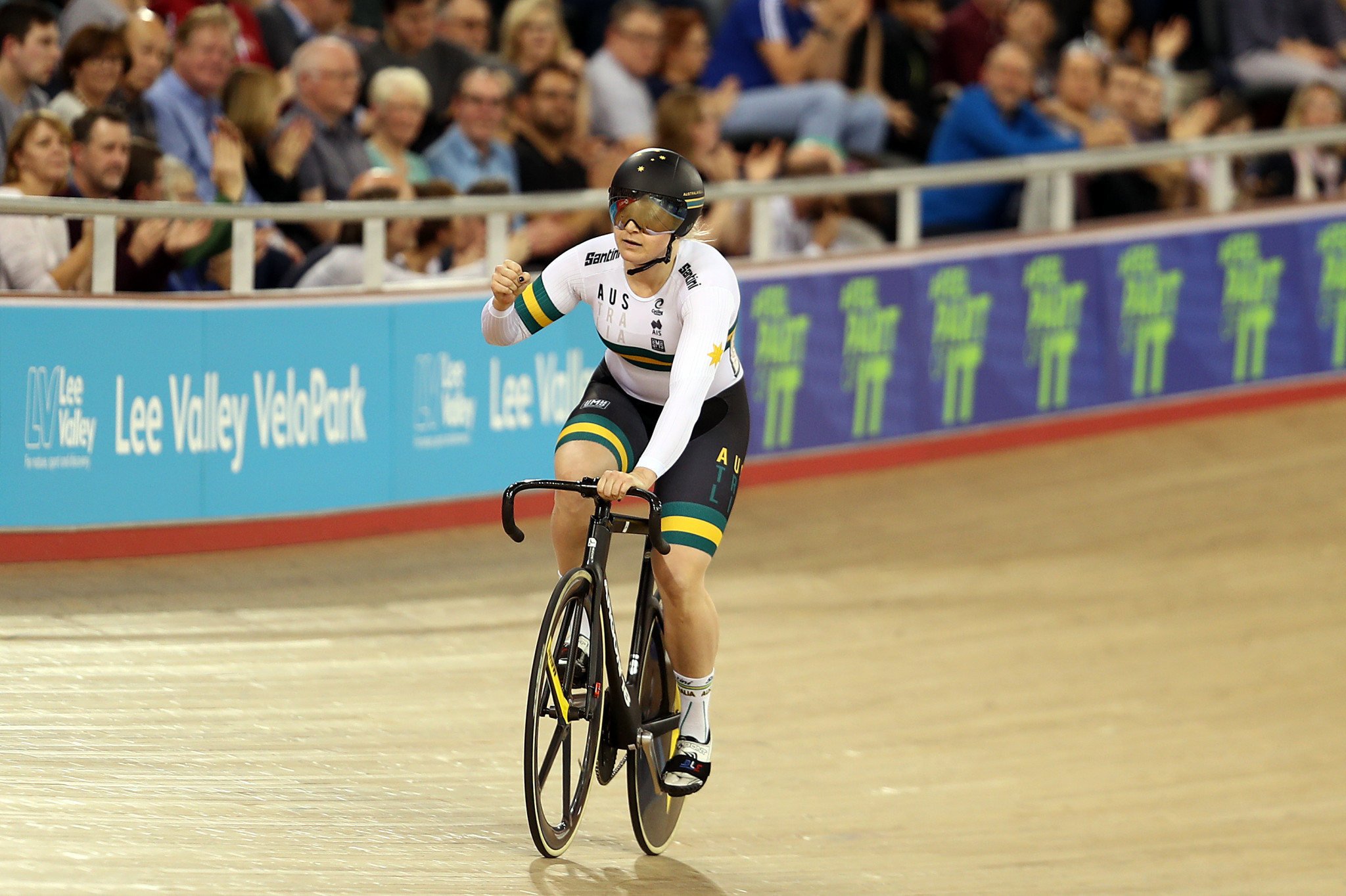 Stephanie Morton won the women's individual sprint event ©Getty Images