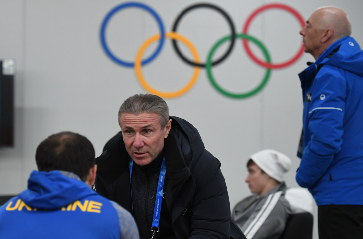 The IOC session in October offered Oleg Matytsin an opportunity to discuss with Ukraine's members Sergey Bubka, pictured, and Valeriy Borzov the question of whether their athletes could participate at Krasnoyarsk 2019 ©Getty Images