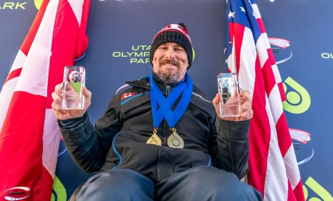 Canada's Lonnie Bissonnette won the first two Para Bobsleigh World Cup races at Park City ©IBSF