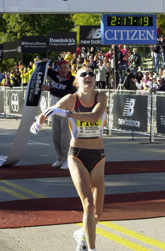 Britain's Paula Radcliffe broke the marathon world record in Chicago