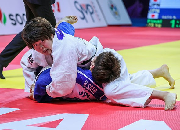 Mami Umeki boosted her Tokyo 2020 prospects by winning the women's under-78kg event at the World Judo Masters in Guangzhou ©IJF