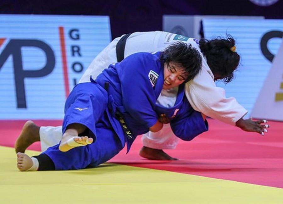 Japanese teenager Akira Sone won the women's over-78kg event ©IJF