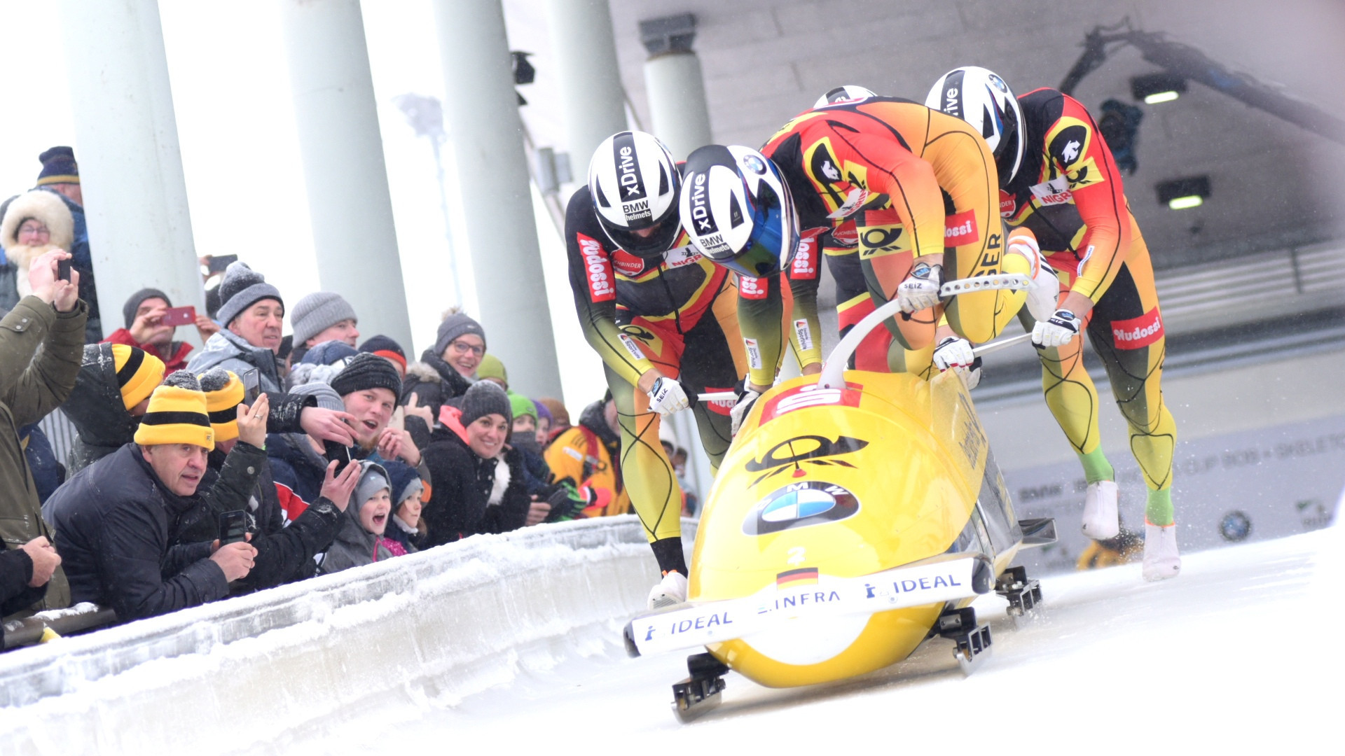 Olympic champion Friedrich swaps silver for gold in second four-man bob race at IBSF World Cup in Winterberg