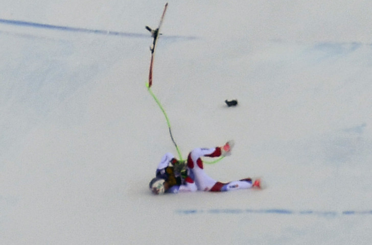 There were encouraging reports from Swiss-Ski today on the condition of Marc Gisin, who fell heavily during yesterday's FIS World Cup downhill race at Val Gardena ©Getty Images