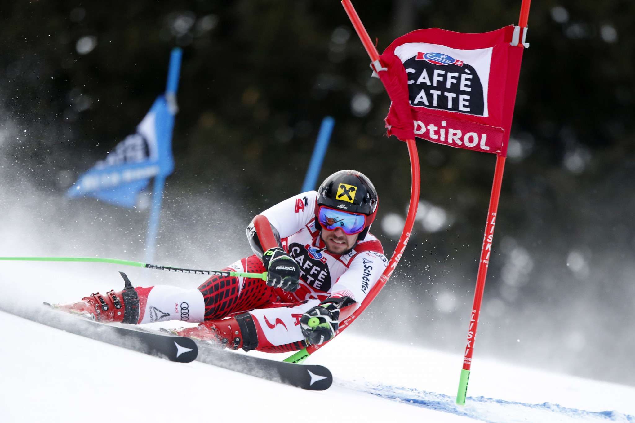 Austria's Marcel Hirscher finished two and a half seconds ahead of the nearest challengerin today's FIS World Cup giant slalom in Alta Badia ©FIS