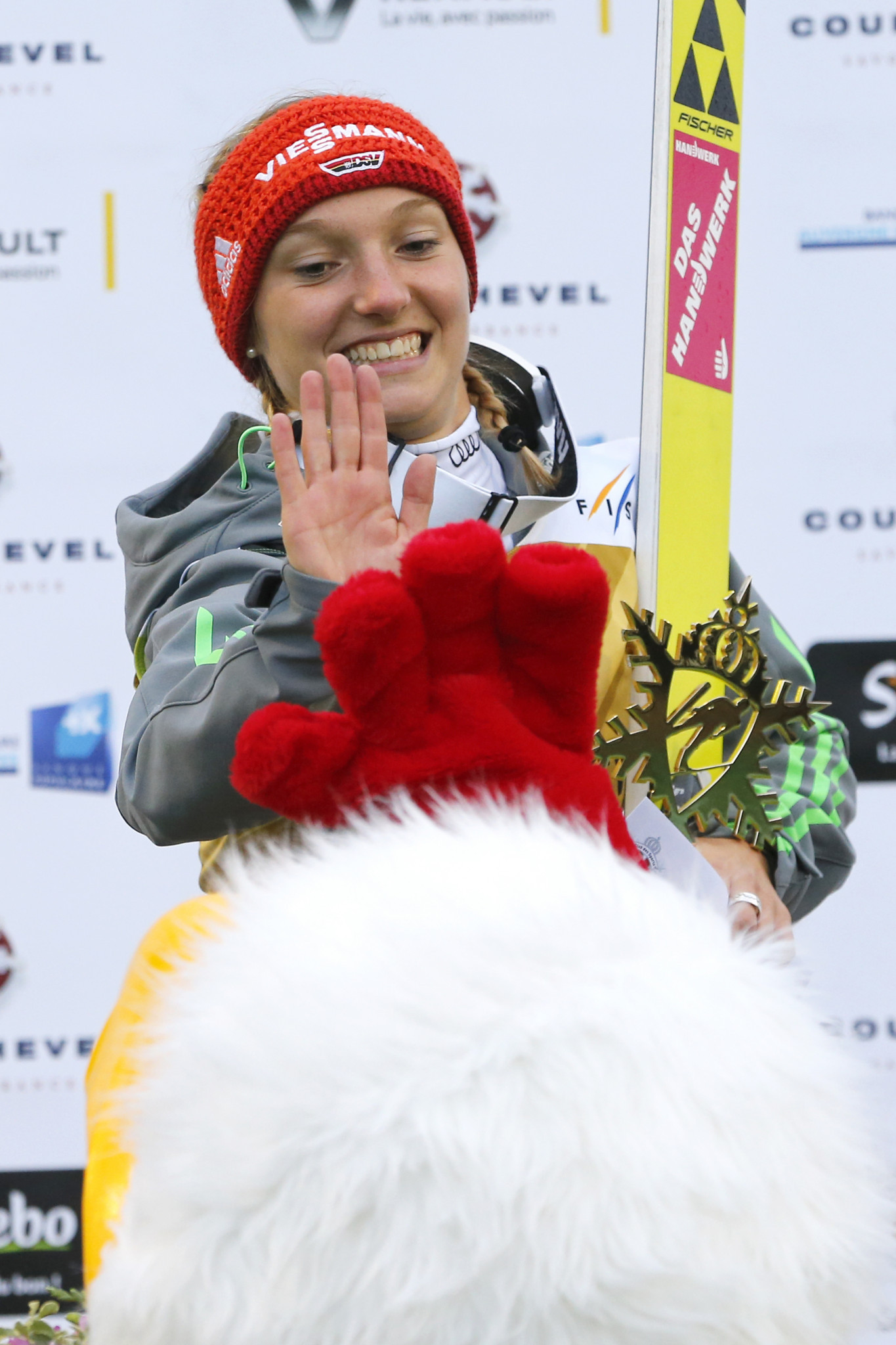 Germany's Katharina Althaus earned a second win at the FIS Ski-Jumping World Cup at Premanon in France ©Getty Images