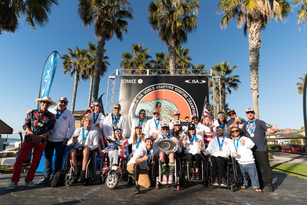 United States win first team title at ISA World Adaptive Surfing Championships