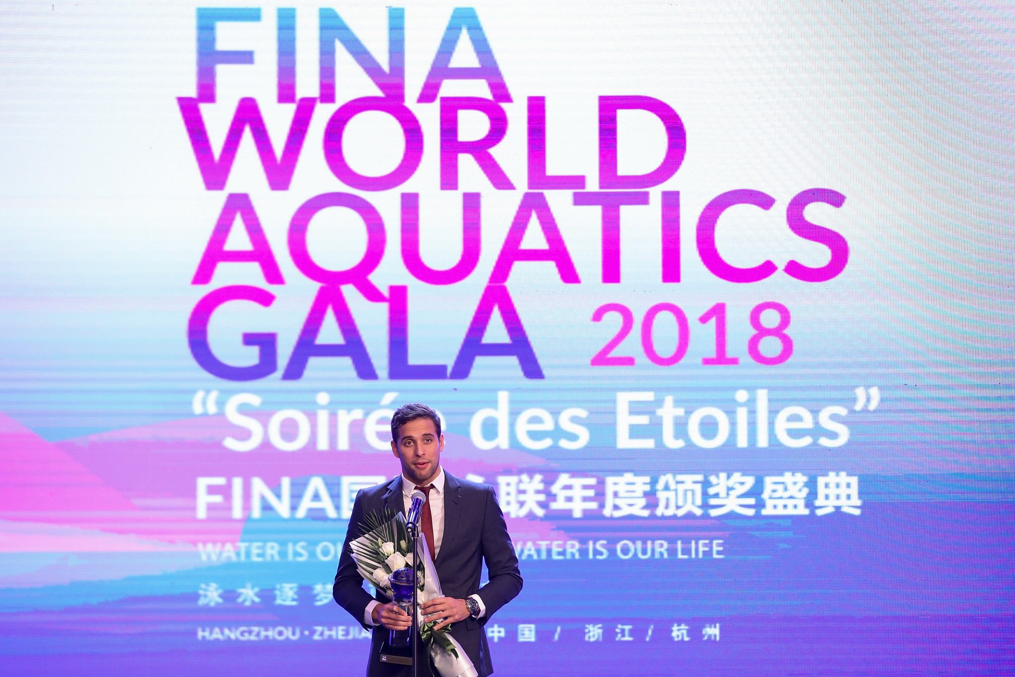 South Africa's Chad Le Clos was crowned as the best male swimmer at FINA's Gala Awards ©Getty Images