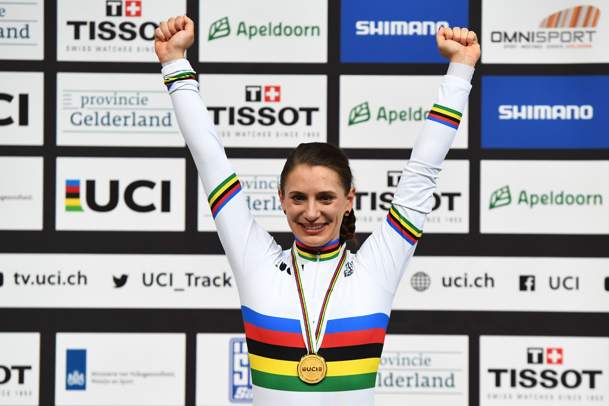 Detlef Uibel coached Miriam Welte to a gold medal in the women's 500m time trial at this year's UCI Track Cycling World Championships in Apeldoorn - one of three victories for Germany at the event ©Getty Images