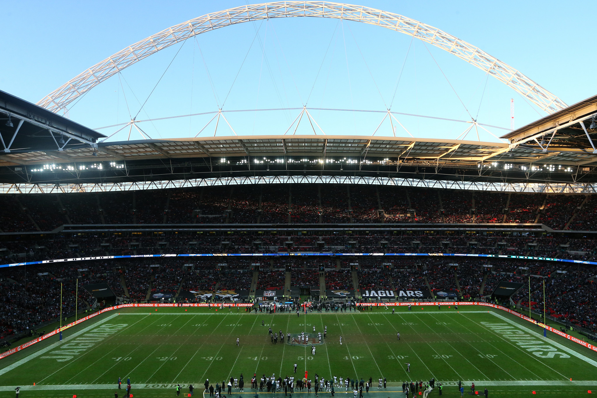 National Football League matches in London have been a success but the model should not be replicated by football in countries such as England and Spain ©Getty Images