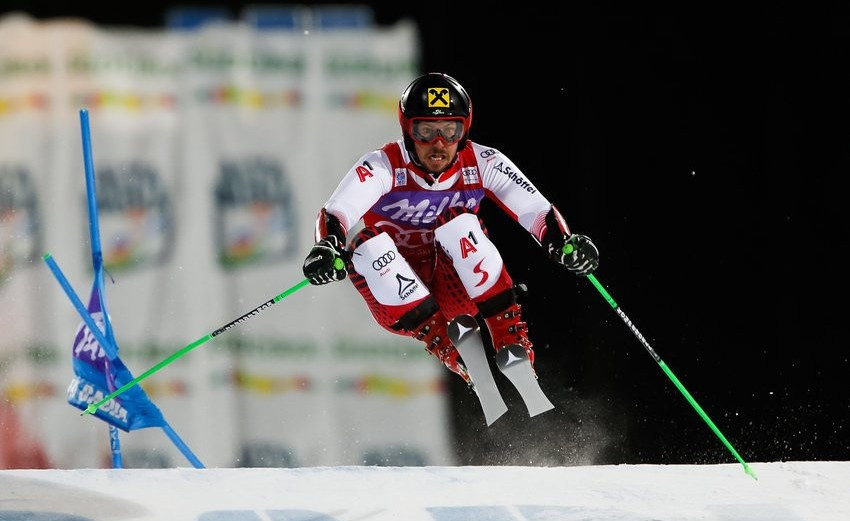 Marcel Hirscher of Austria won his first career parallel giant slalom event at the FIS Alpine Ski World Cup in Alta Badia ©Getty Images
