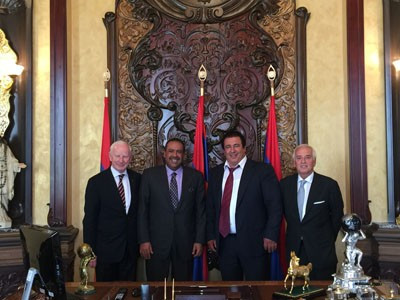 Hickey and Sheikh Ahmad attend 5th National Olympic Committee of Armenia anniversary event