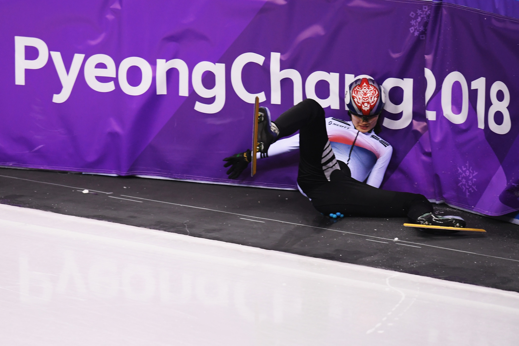 Shim Suk-hee claimed a fall she had during the 2018 Pyeongchang Games was caused by a concussion given to her by Cho Jae-beon ©Getty Images
