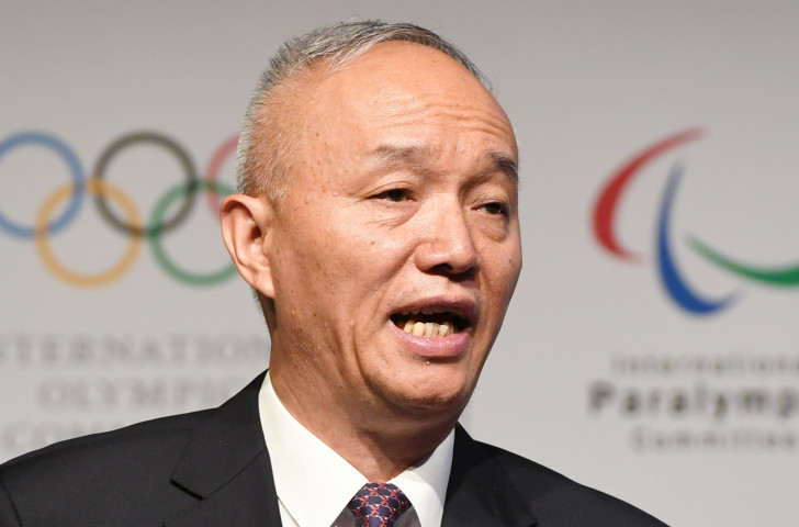 Cai Qi, President of the Beijing 2022 Organising Committee, has addressed the second meeting of the Executive Committee on the subject of construction and preparation ©Getty Images
