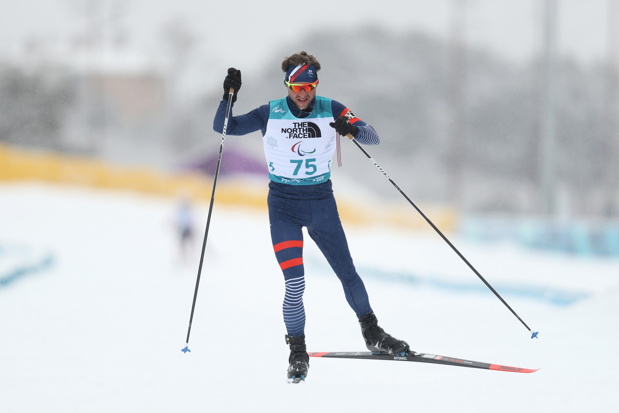 Benjamin Daviet won gold today in a new form of Para-biathlon race ©Getty Images