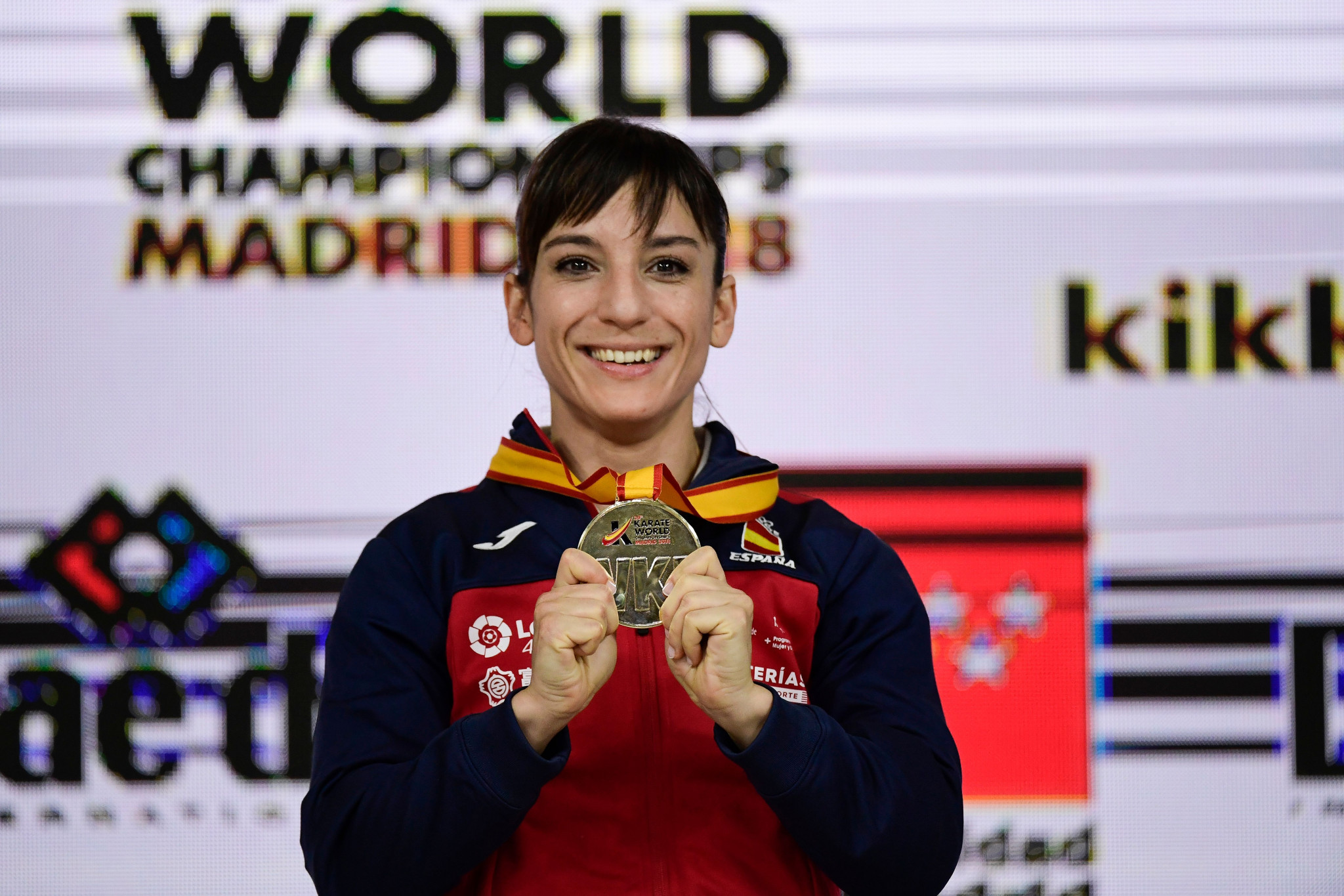 Sandra Sanchez Jaime of Spain will compete in the ANOC World Beach Games in San Diego after winning gold in the Karate World Championships in Madrid ©Getty Images