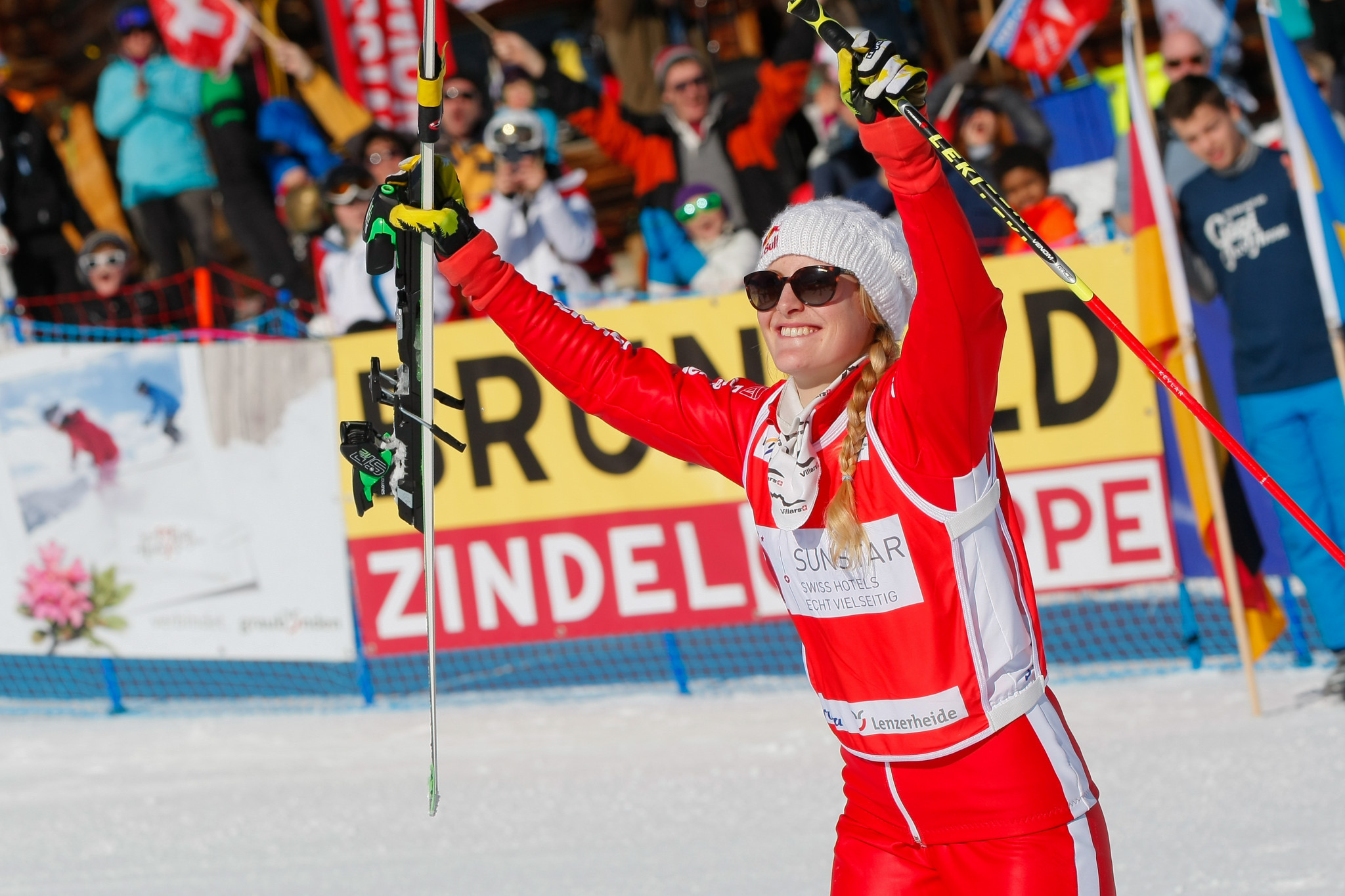 Fanny Smith has backed up her ski cross win in Arosa by qualifying fastest in Innichen ©Getty Images