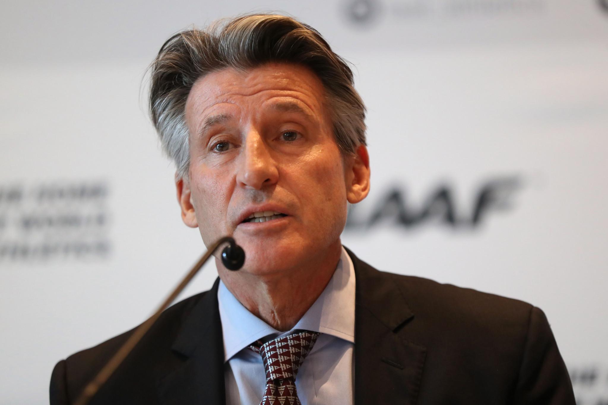IAAF President Sebastian Coe said he is