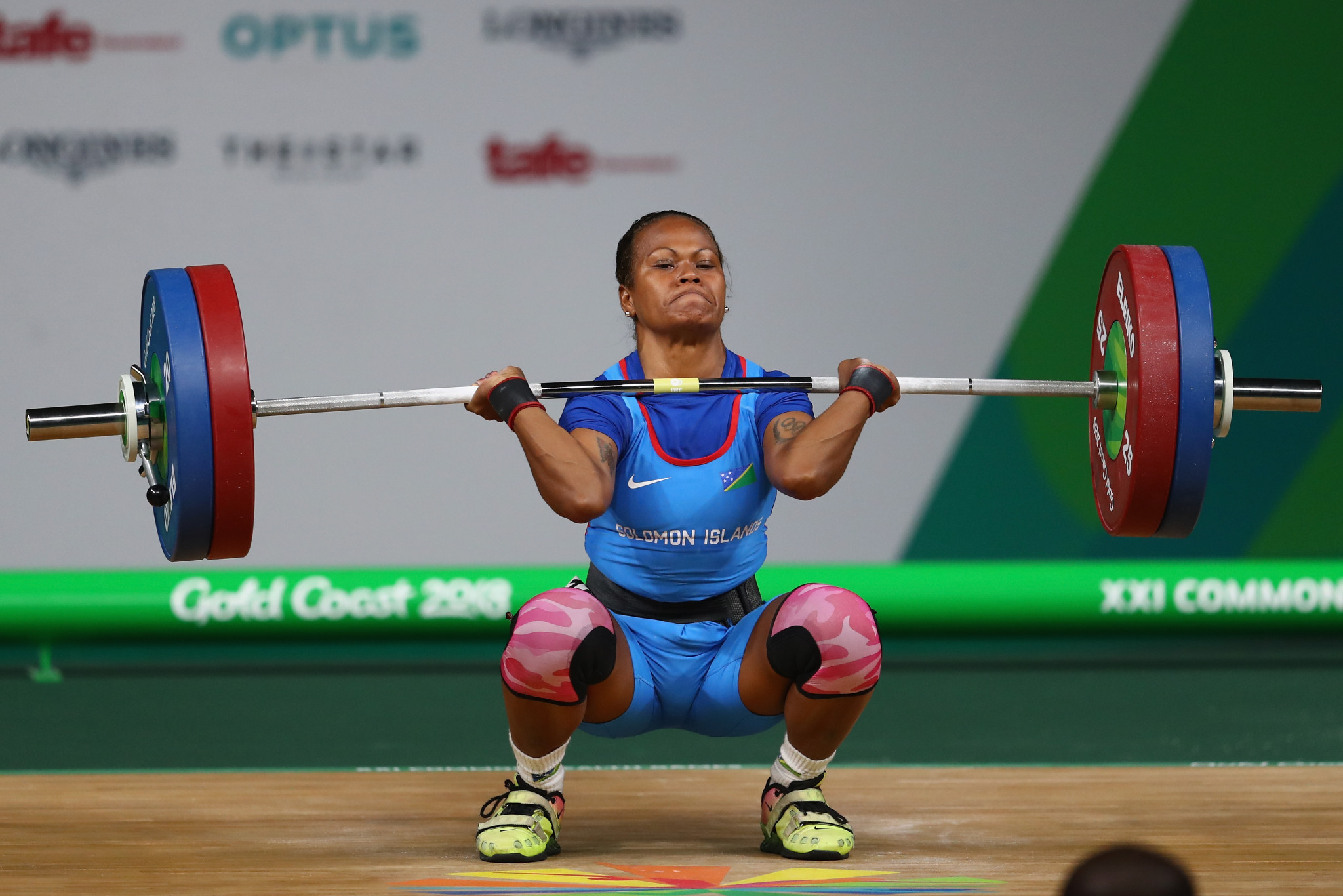 Jenly Wini became the first athlete from the Solomon Islands to win a Commonwealth Games medal by finishing third in the women's 58kg category at Gold Coast 2018 ©Getty Images