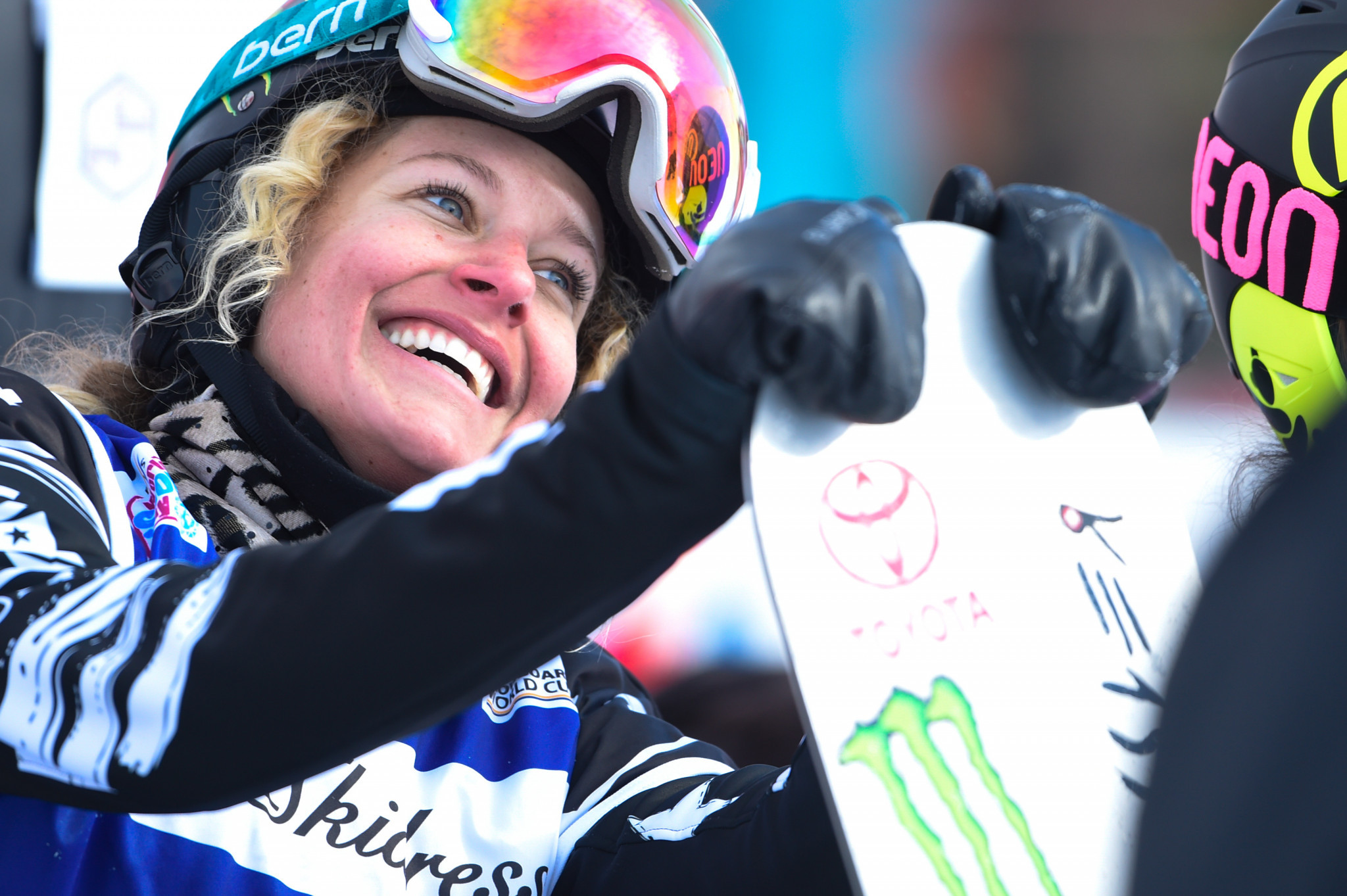 America's Lindsey Jacobellis won the first FIS Snowboard Cross World Cup of the season today in Cervinia ©Getty Images
