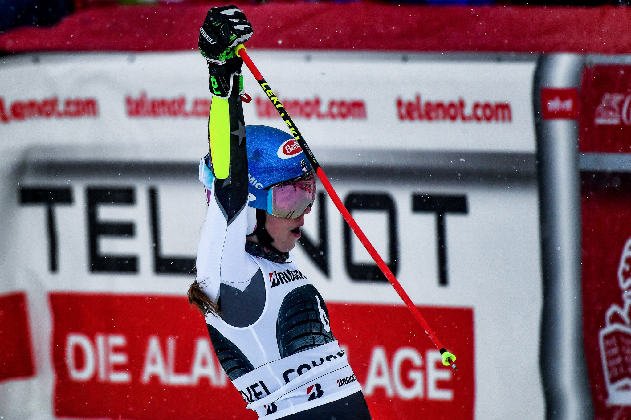 Mikaela Shiffrin has shown her dominance once again to win giant slalom gold in Courchevel ©Getty Images