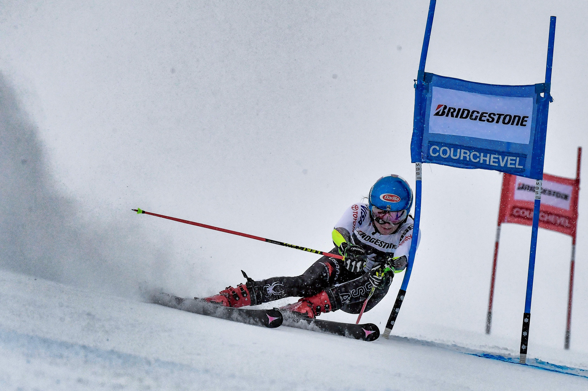 Going into her second run Mikaela Shiffrin was behind, but she managed to make up the difference ©Getty Images