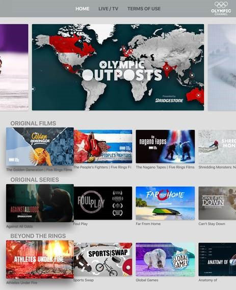 Fans of the Olympics are now able to watch coverage on the Olympic Channel via connected TV devices ©Olympic Channel
