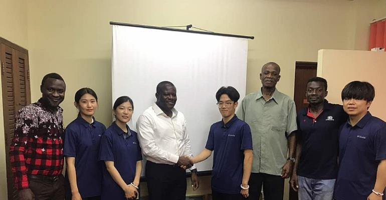 A South Korea delegation visited Ghana to teach taekwondo this year ©GOC