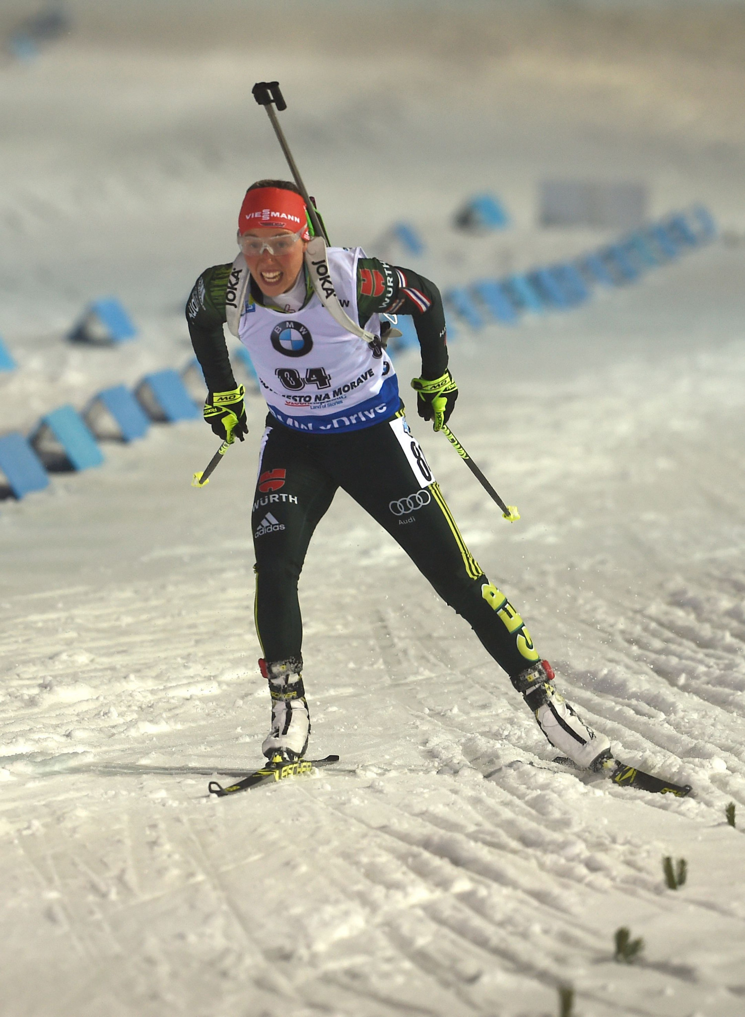 Laura Dahlmeier claimed a first podium finish of the World Cup season ©Getty Images