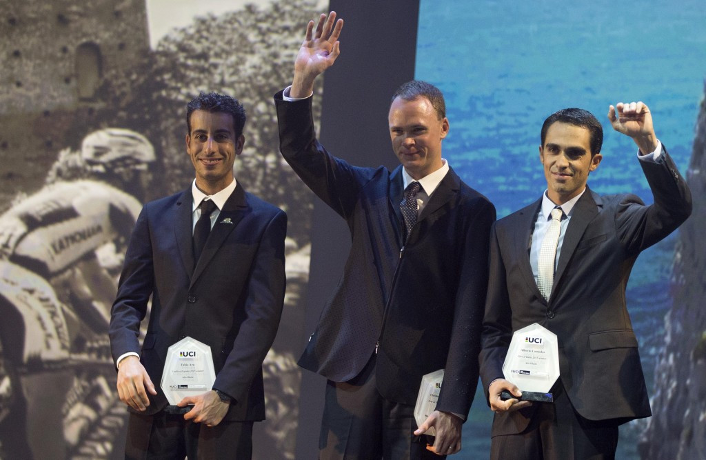 Stars of 2015 road cycling season honoured at inaugural UCI Gala in Abu Dhabi