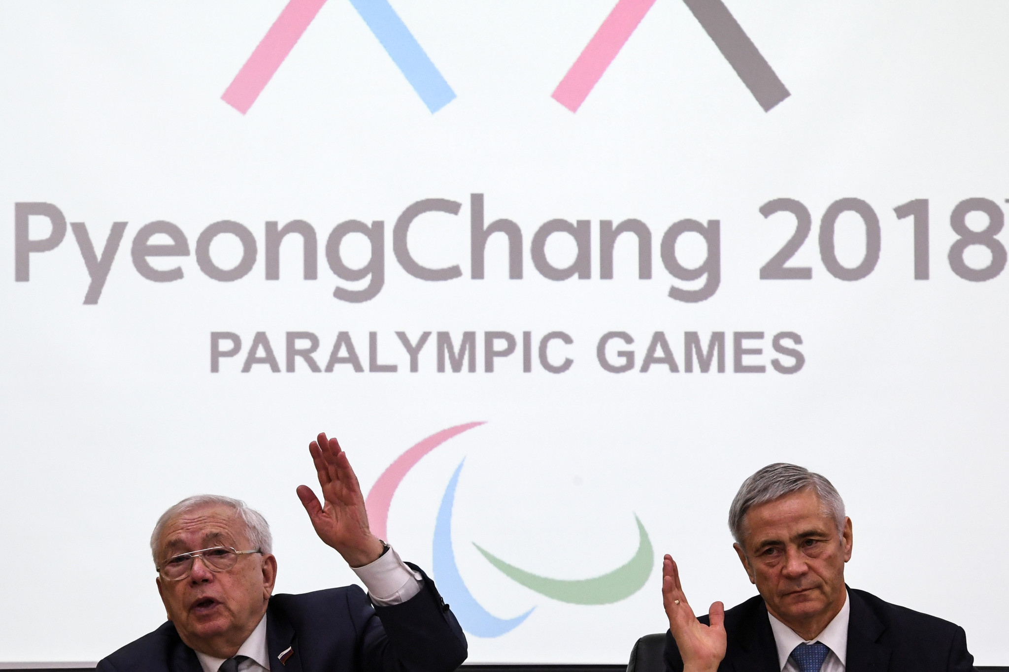 Russian Paralympic Committee first vice-president Pavel Rozhkov, right, says the RPC has paid the IPC's expenses ©Getty Images
