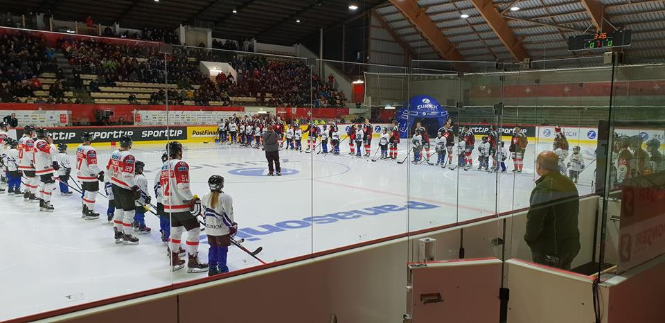 Lucerne 2021 officials attended an ice hockey tournament in the Winter Universiade host city to assess the venue's readiness ©Lucerne 2021