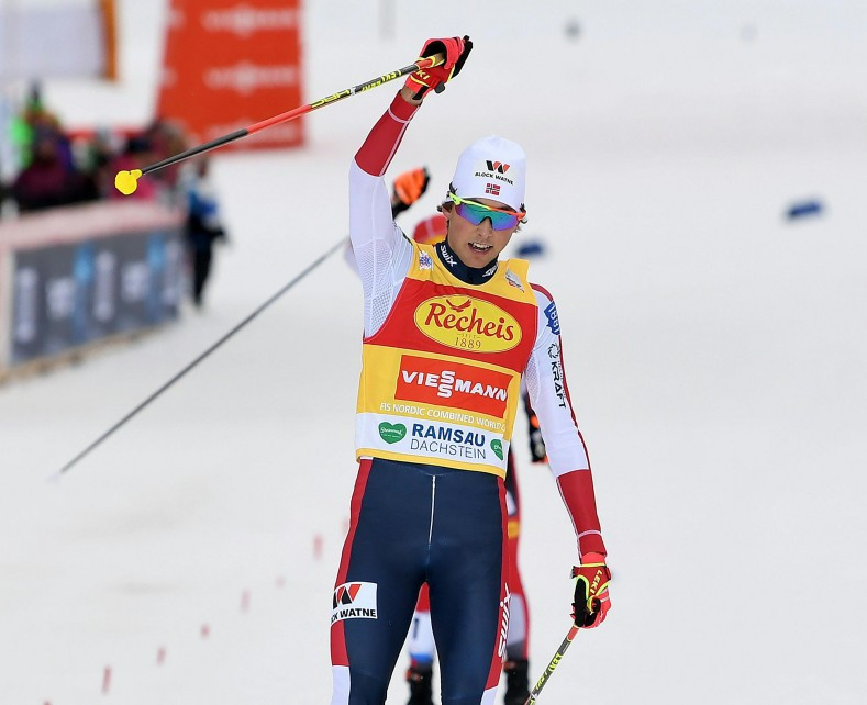 Riiber rules again at Nordic Combined World Cup in Ramsau am Dachstein