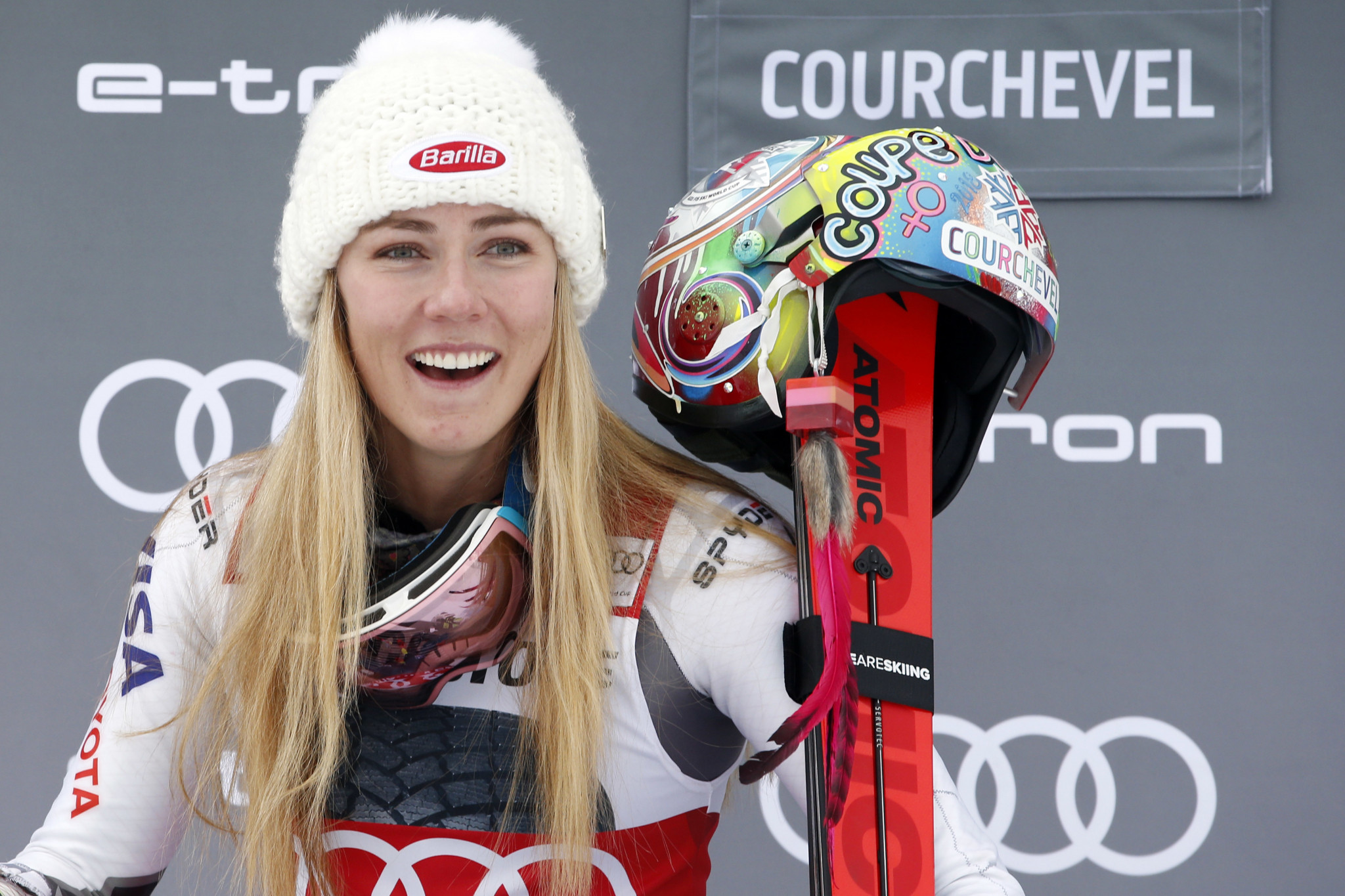 Mikaela Shiffrin has continued her unbeatable form with another win in Courchevel ©Getty Images