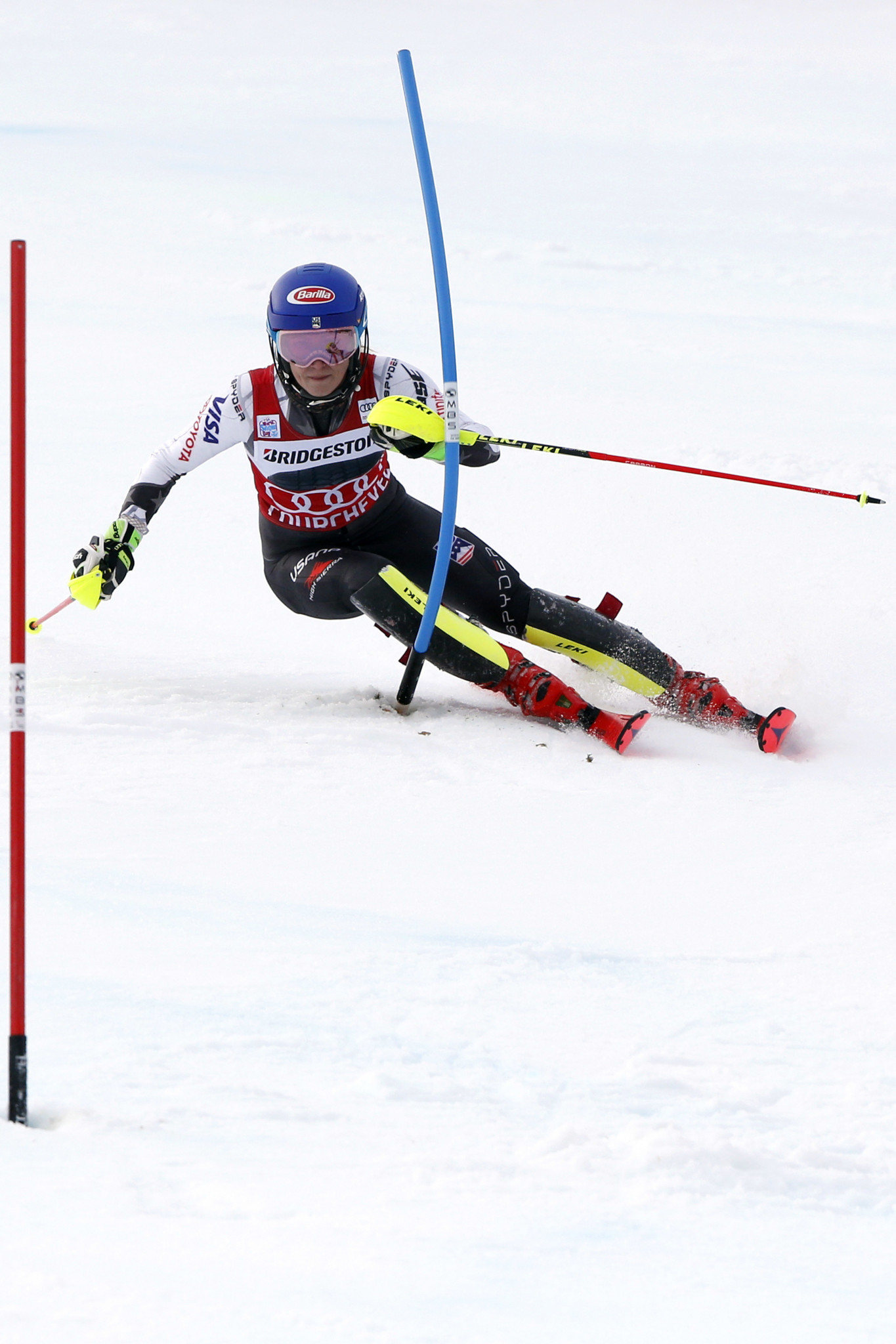 Mikaela Shiffrin's win today sees her move 501 points clear at the top of the overall World Cup rankings ©Getty Images