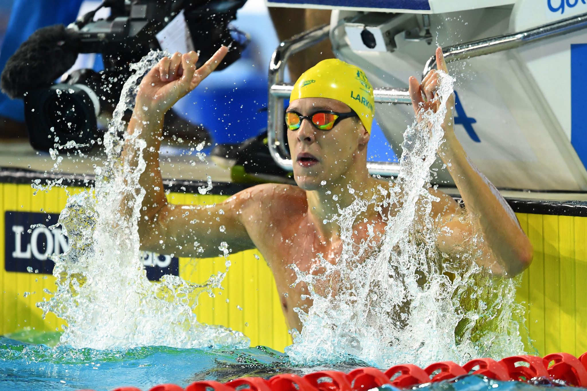 Hosts Australia topped the medal table with swimmer Mitch Larkin winning five golds ©Getty Images