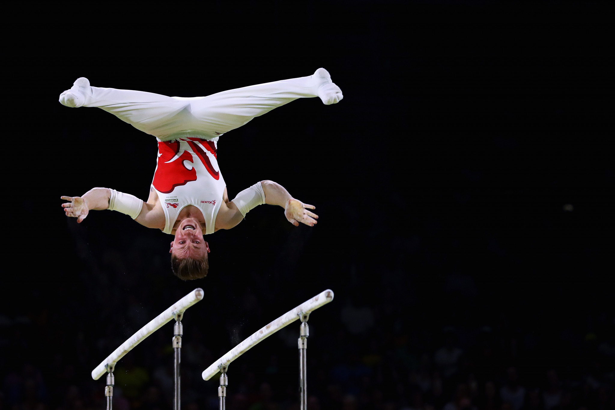 England's Nile Wilson won five medals in all and three golds in gymnastics ©Getty Images