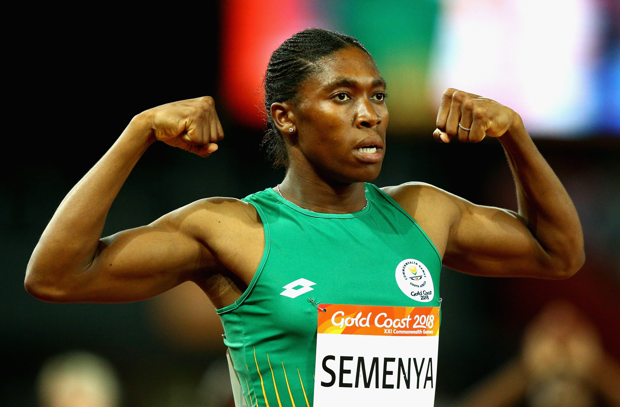 Caster Semenya of South Africa completed the 800m/1,500m double on the athletics track ©Getty Images