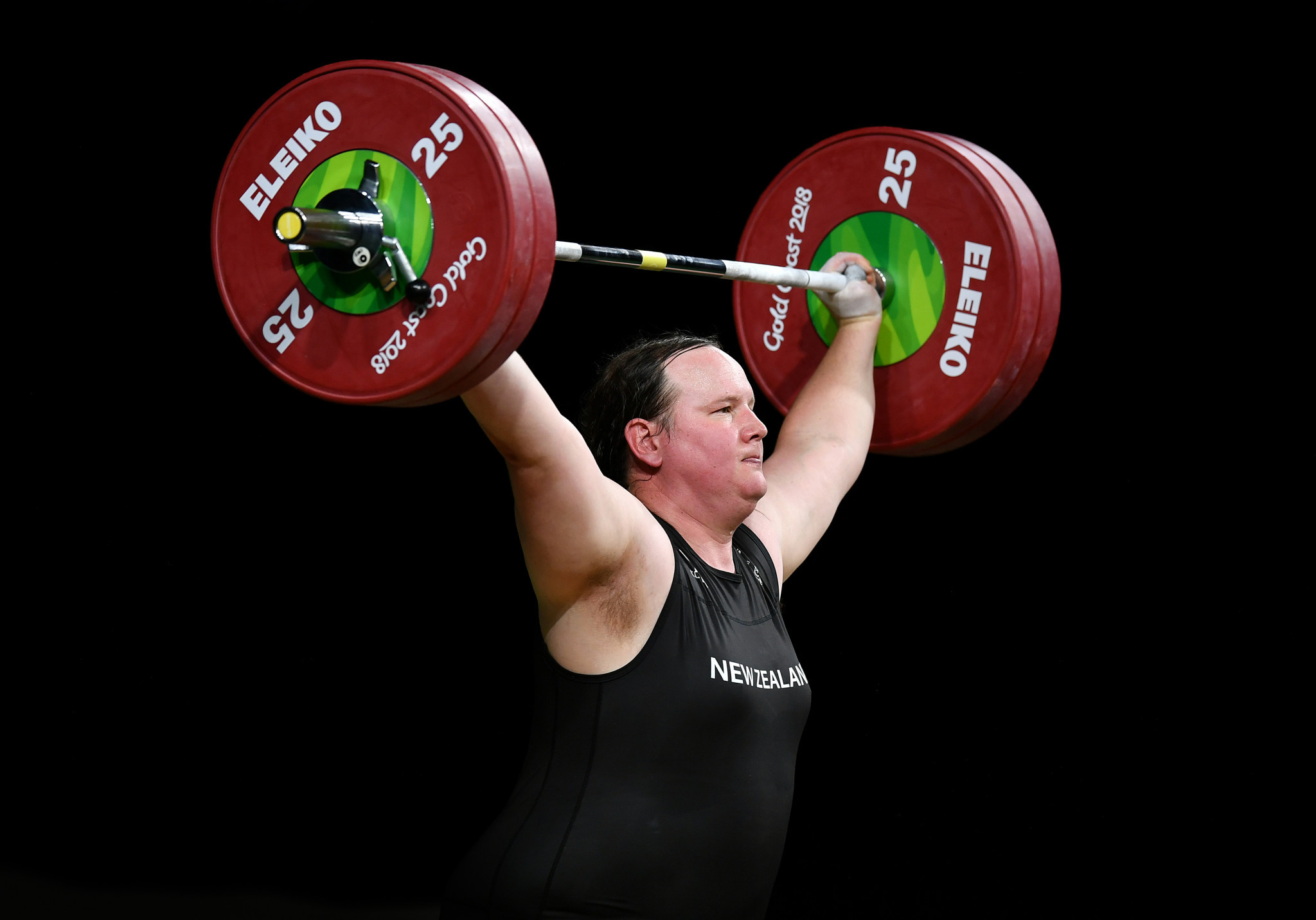 Transgender athlete Laurel Hubbard competed at weightlifting ©Getty Images