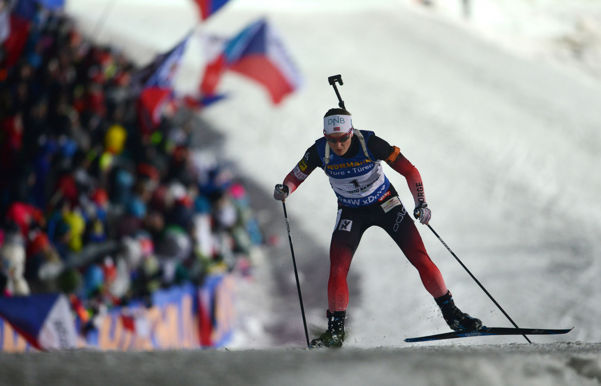 Marte Olsbu Røiseland also doubled up for Norway ©Getty Images