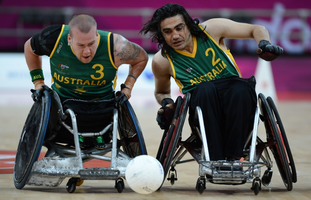 Naz Erdem (right) is eyeing success for Australia at the BT World Wheelchair Rugby Challenge, which begins in London today ©Getty Images