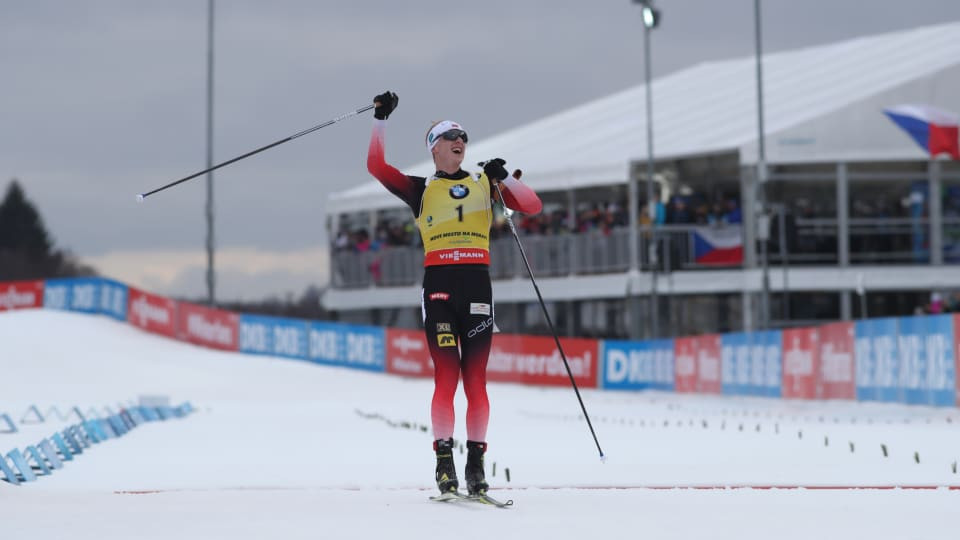 Bø completes hat-trick of wins at Nove Mesto IBU World Cup with mass start victory