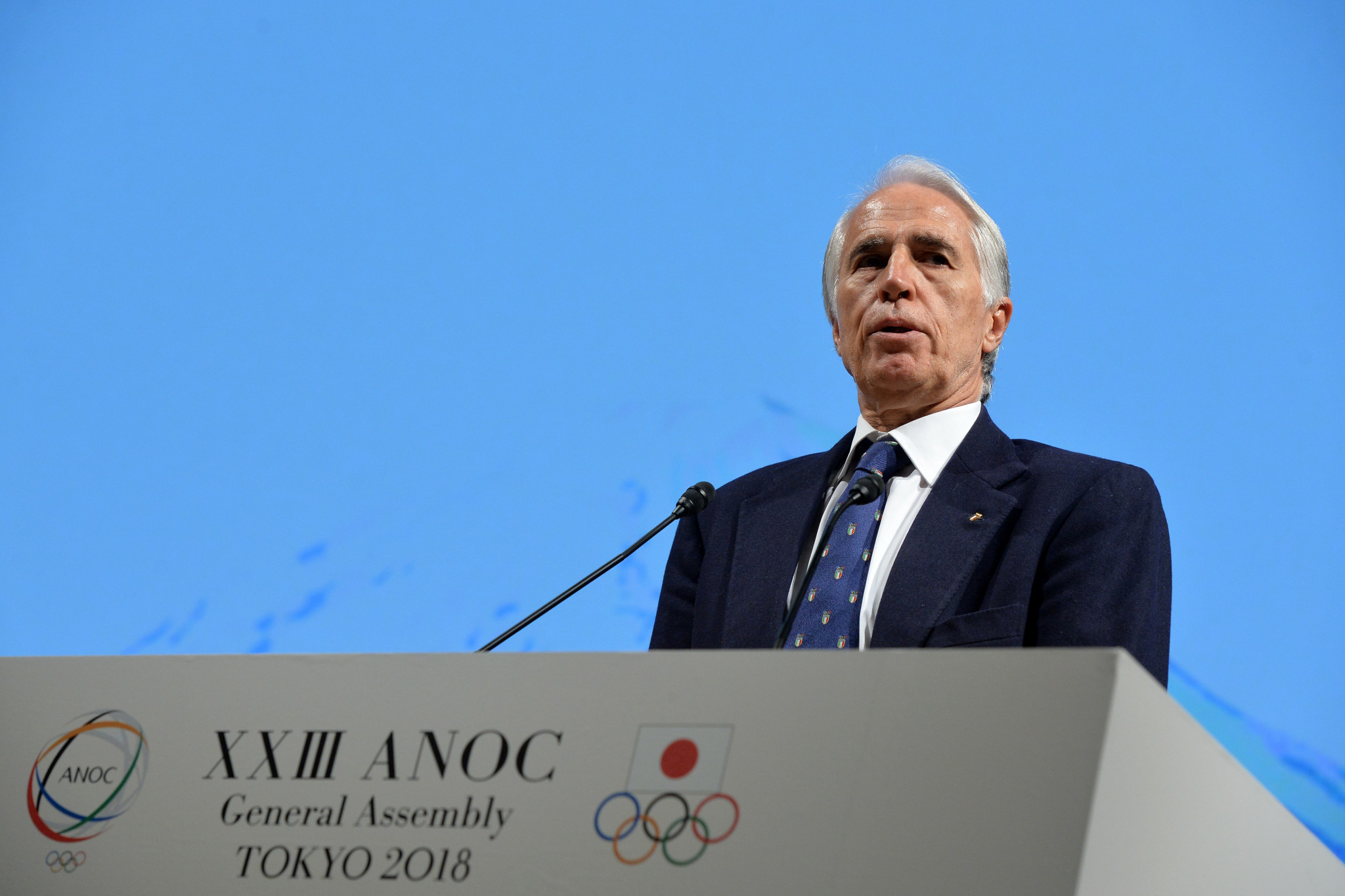 The future of President Giovanni Malagò has been thrown into doubt ©Getty Images
