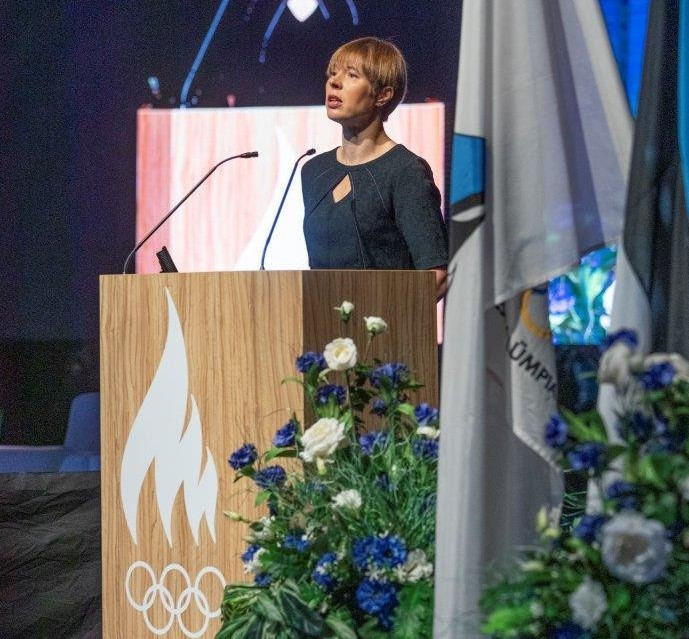 Estonia's President Kersti Kaljulaid delivered the Estonian Sport Forum's opening speech in the capital Tallinn ©Estonian Olympic Committee