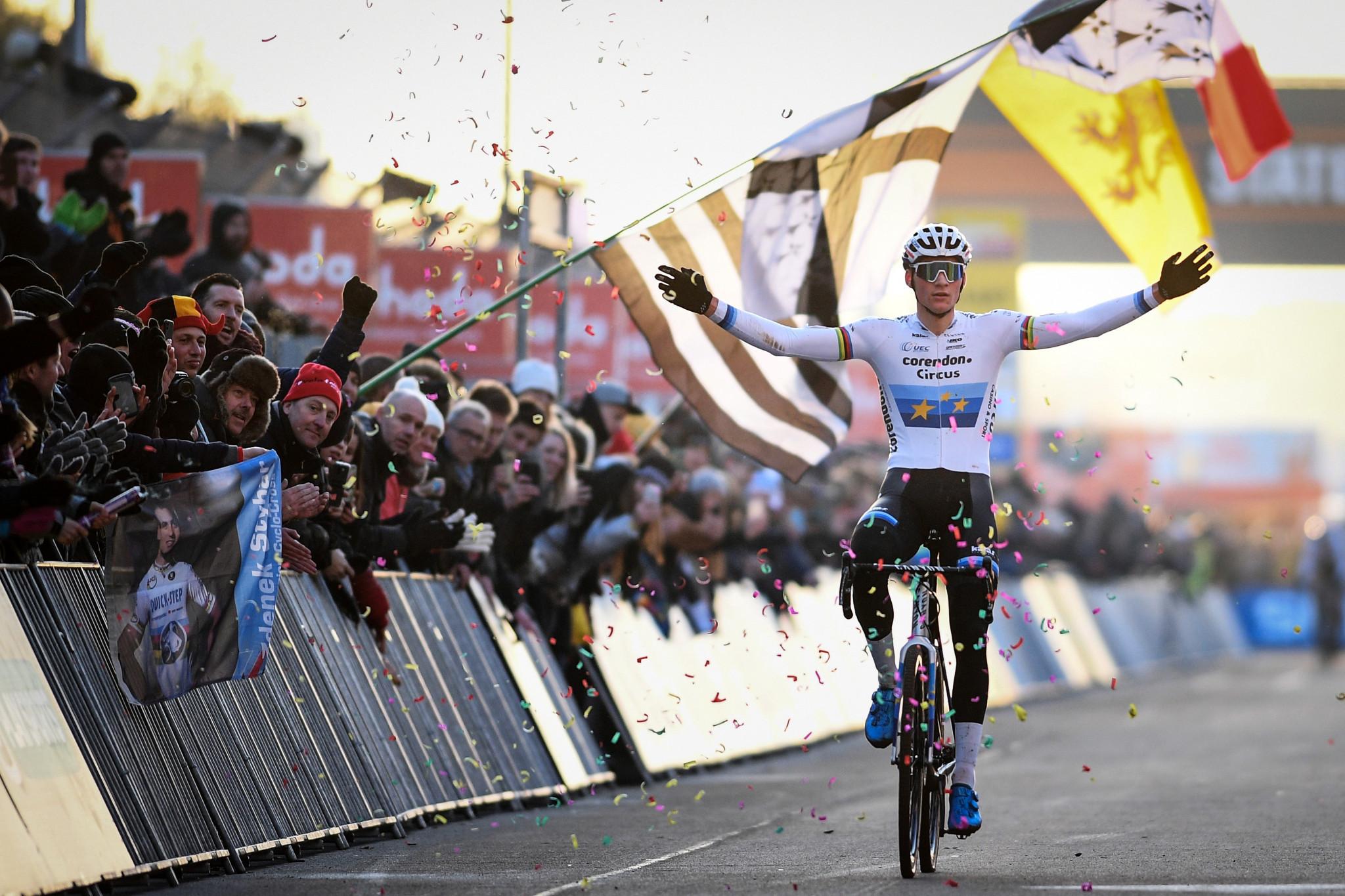 Van der Poel secures fifth successive UCI Cyclo-Cross World Cup victory in Heusden-Zolder