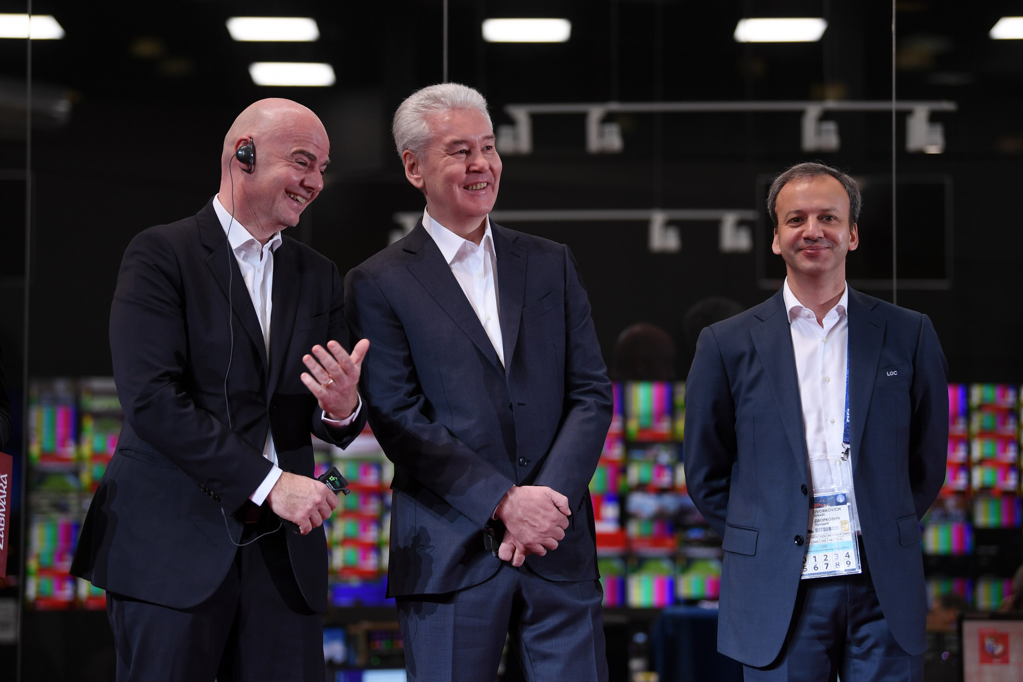 FIFA President Gianni Infantino, left, said there was scope for more cooperation with FIDE ©Getty Images