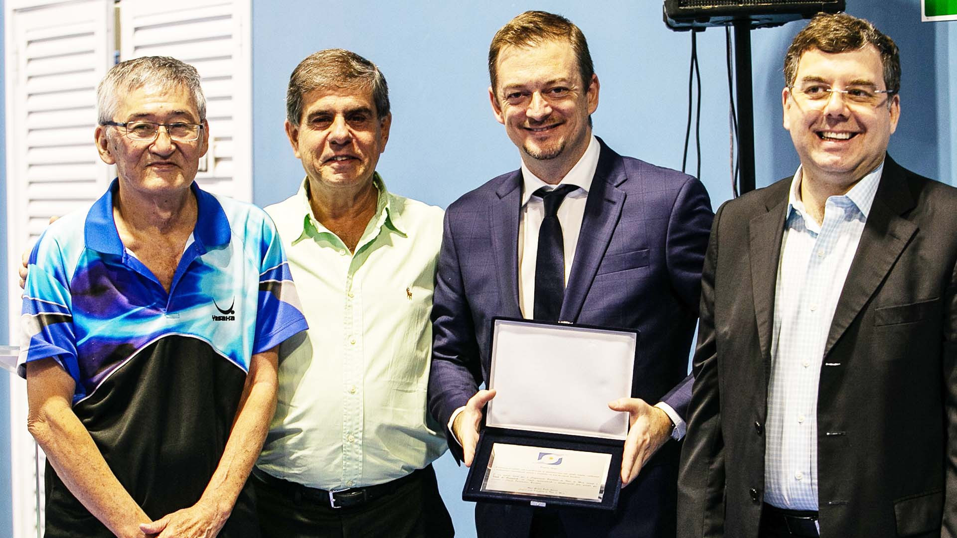 IPC President Parsons receives Brazilian Table Tennis Confederation's merit award