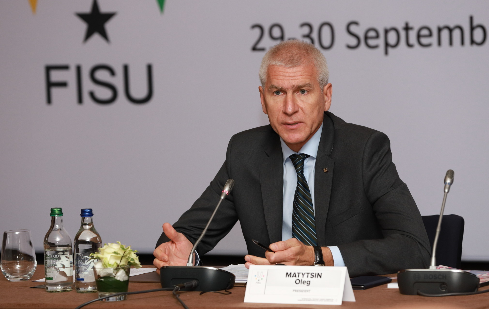 FISU President Matysin has thanked everyone at the body for their work in 2018 ©FISU