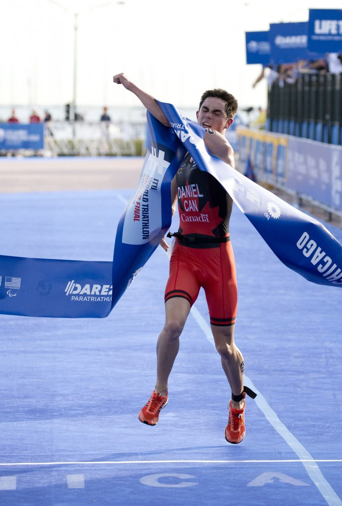 Canadian triathlete Stefan Daniel came second with 18 per cent of the vote